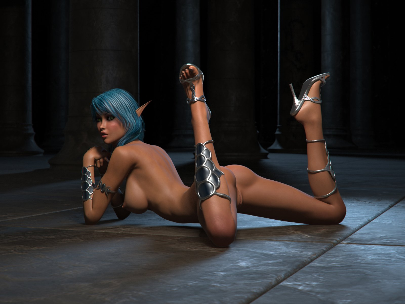 Hot sexy 3d elven hentai girls sex pic