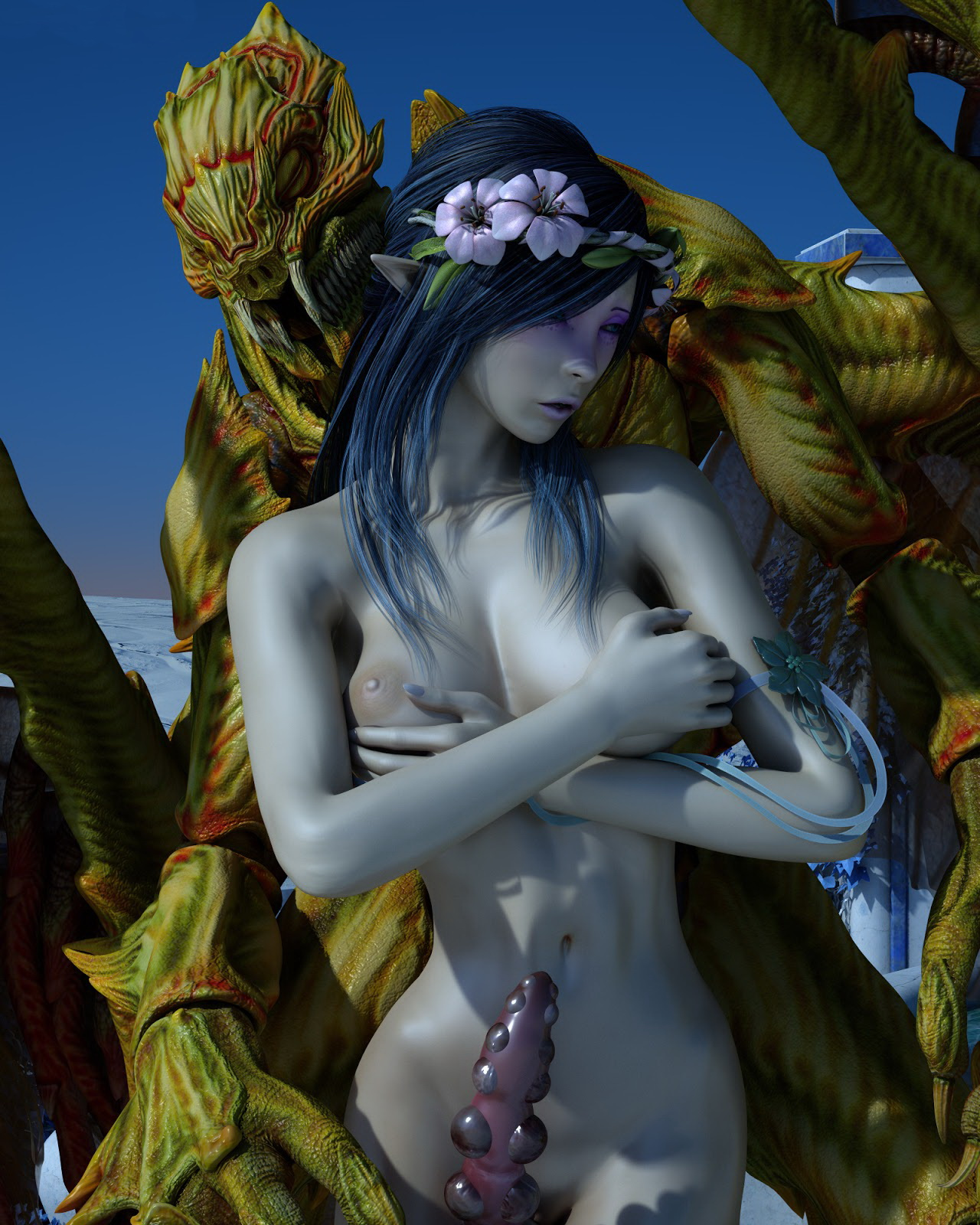 Elven princess and monster hentai erotic interracial housewives