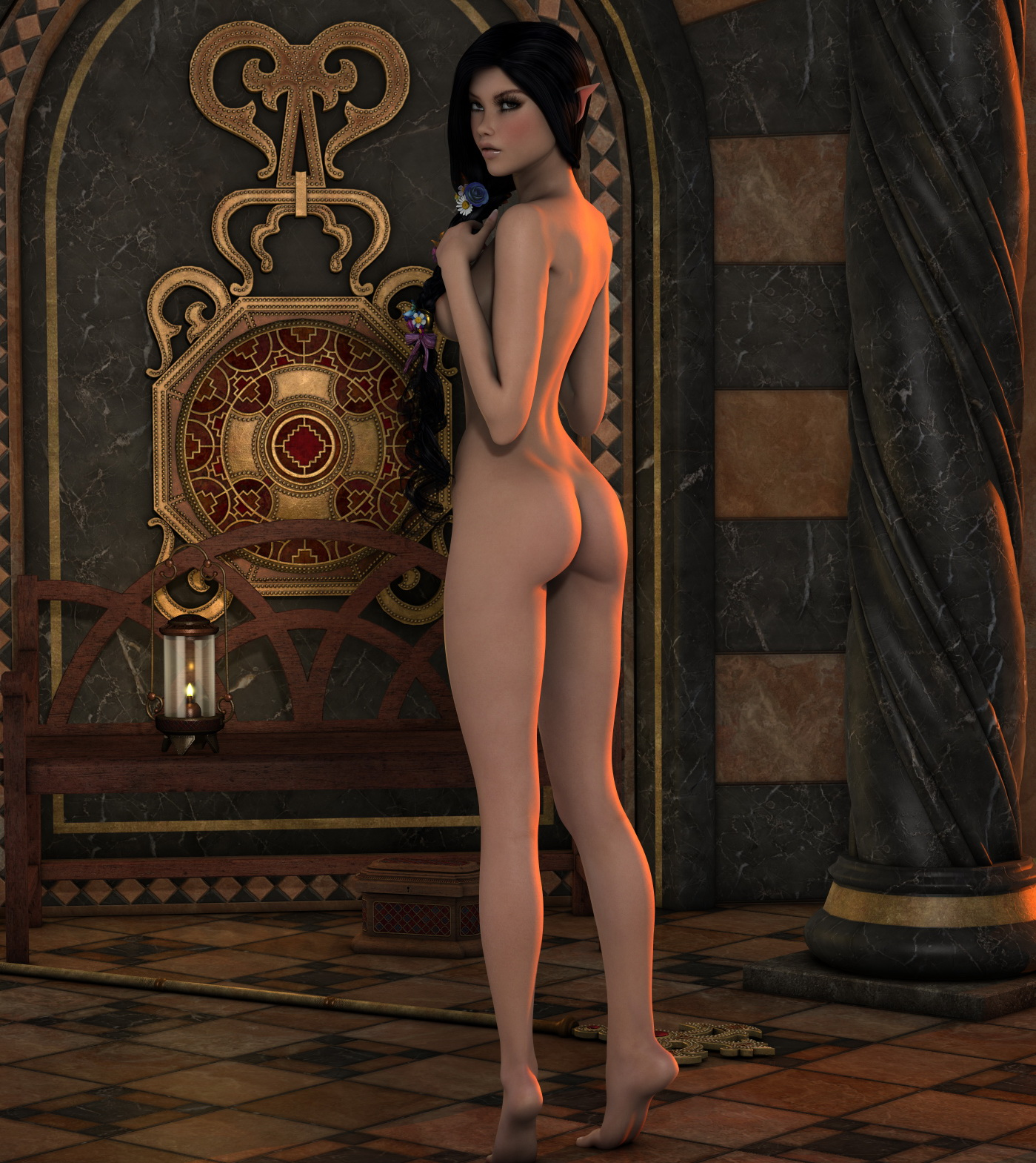 Free nude elfin 3d video cartoon clip