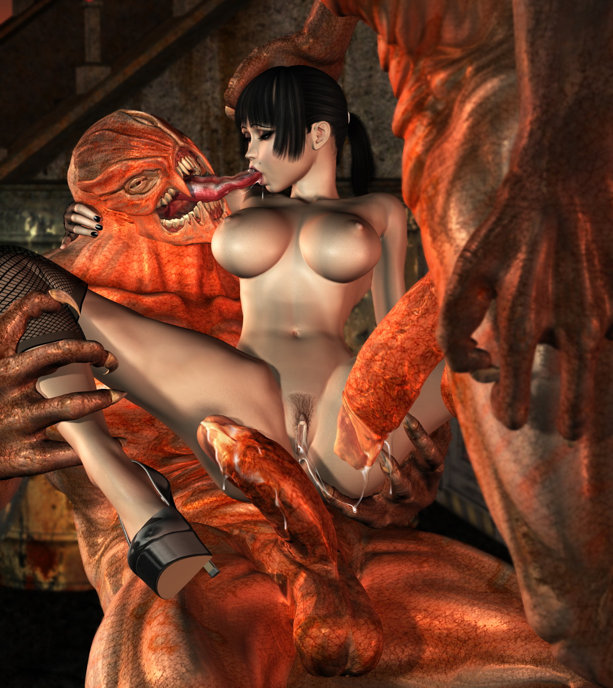3d warrior erotic girl monster adult pic