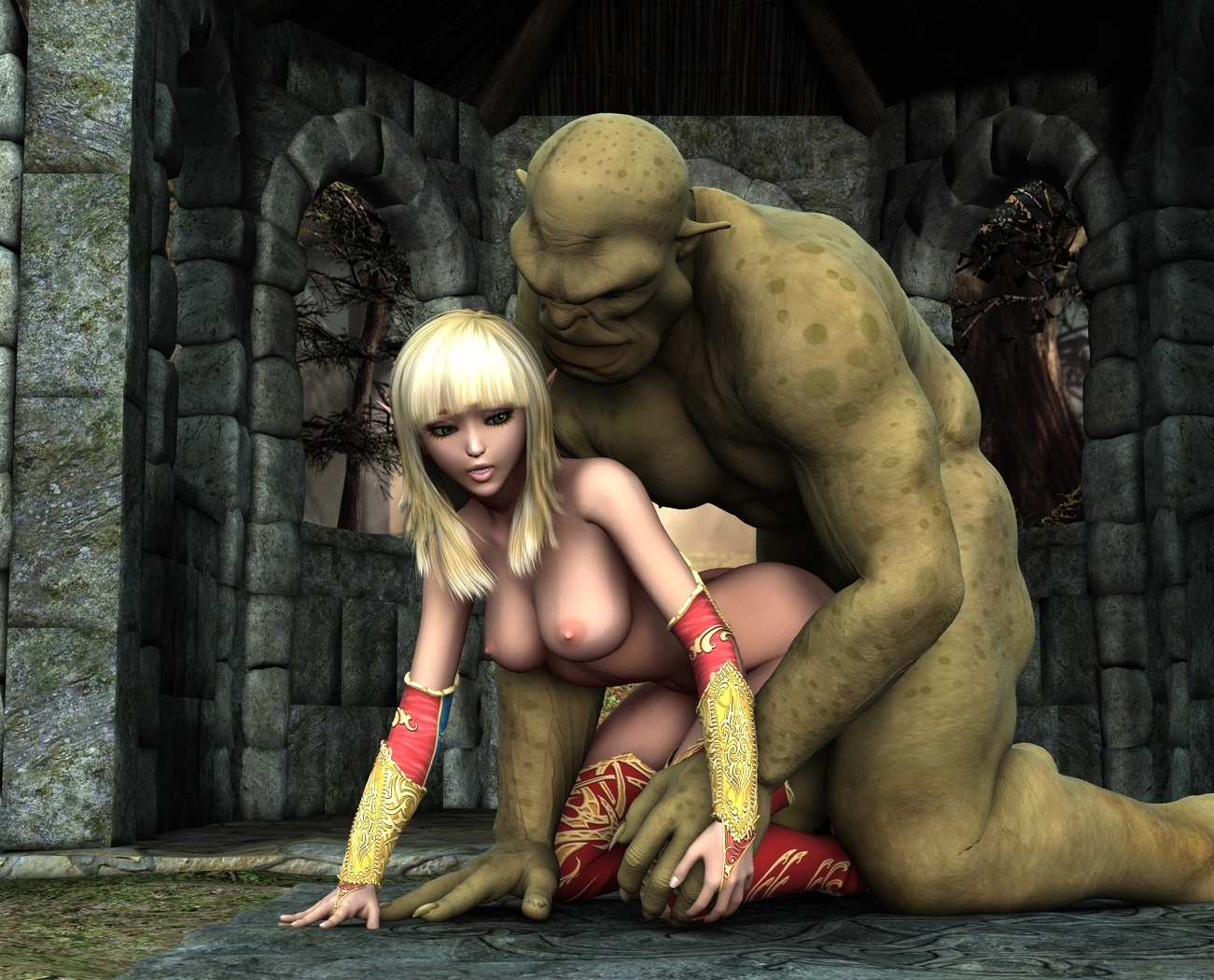 Ogre sex with elf nsfw scenes