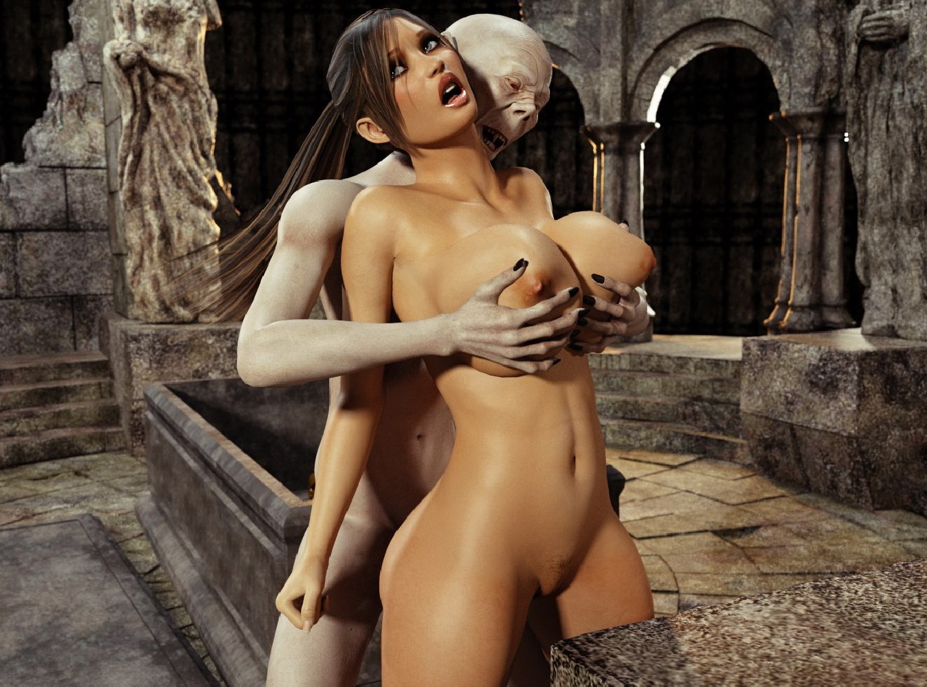 Tomb raider and vampire hentai sexy chick