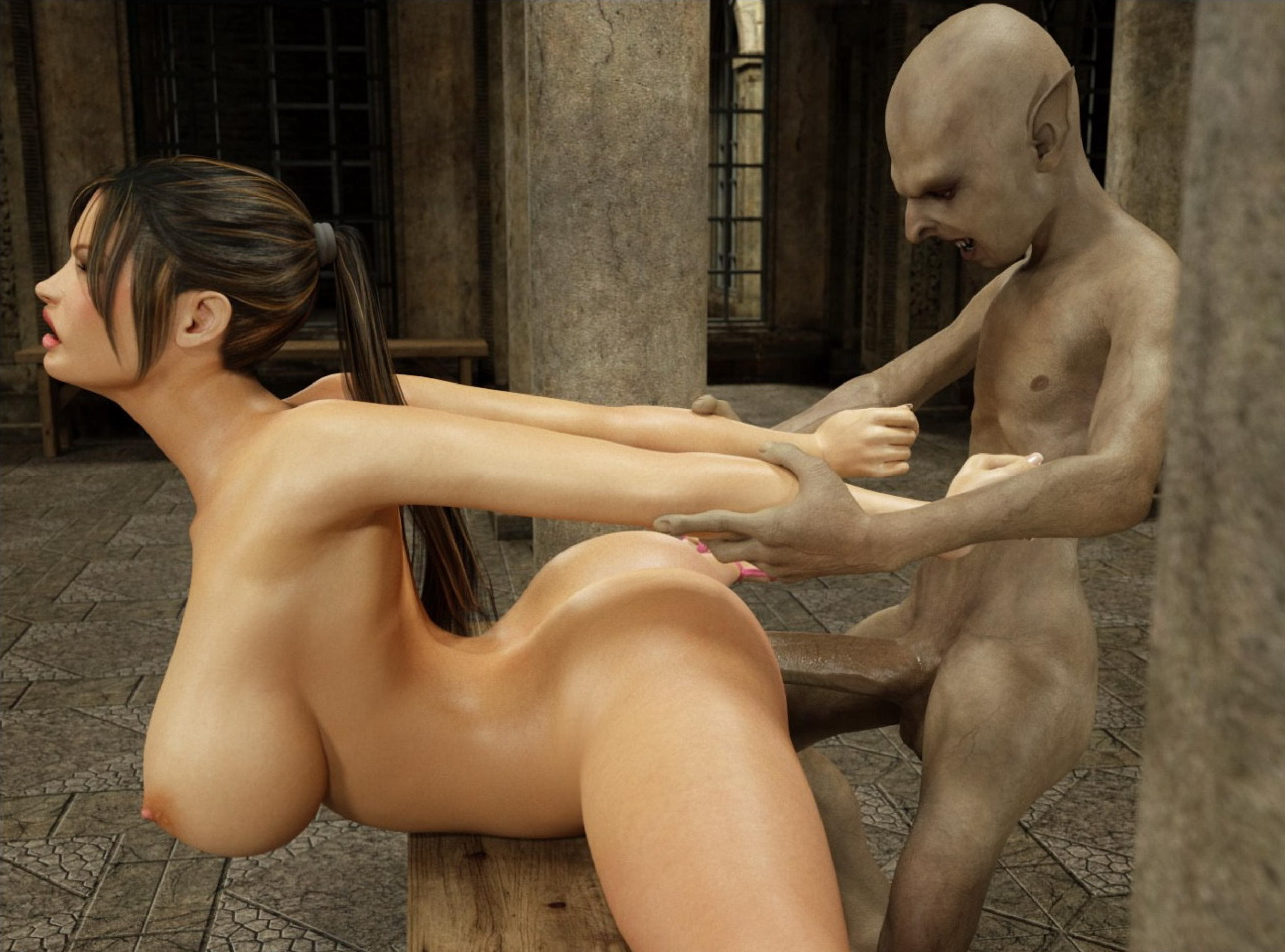 Lara croft fuck with goblin anime young pornstars