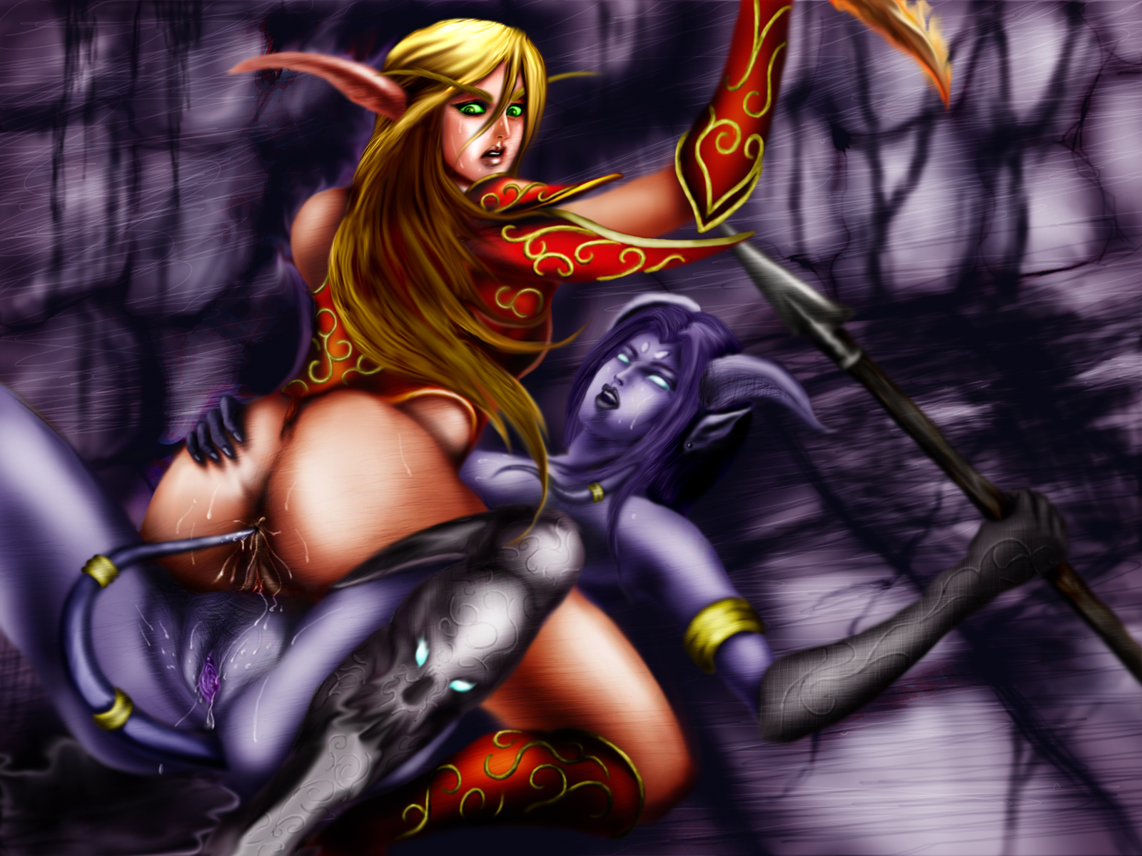 Warcraft sexy female elves images naked queen