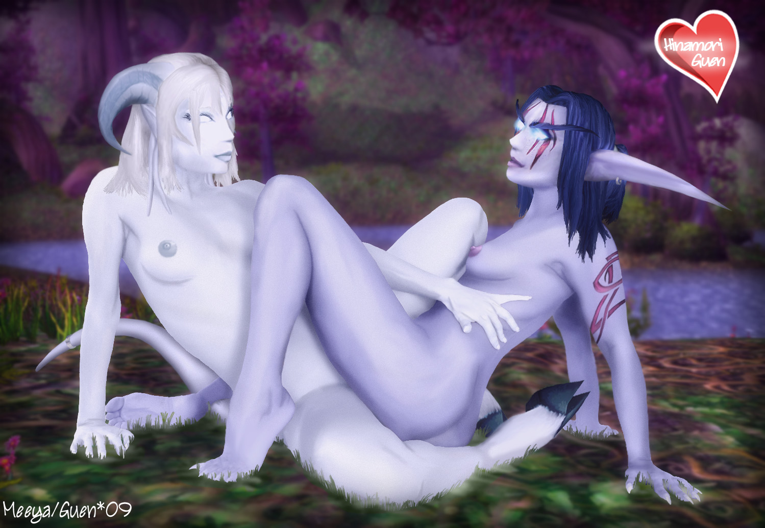 Draenei and elf lesbian xxx female