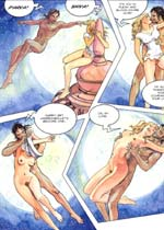 Color comics by Milo Manara