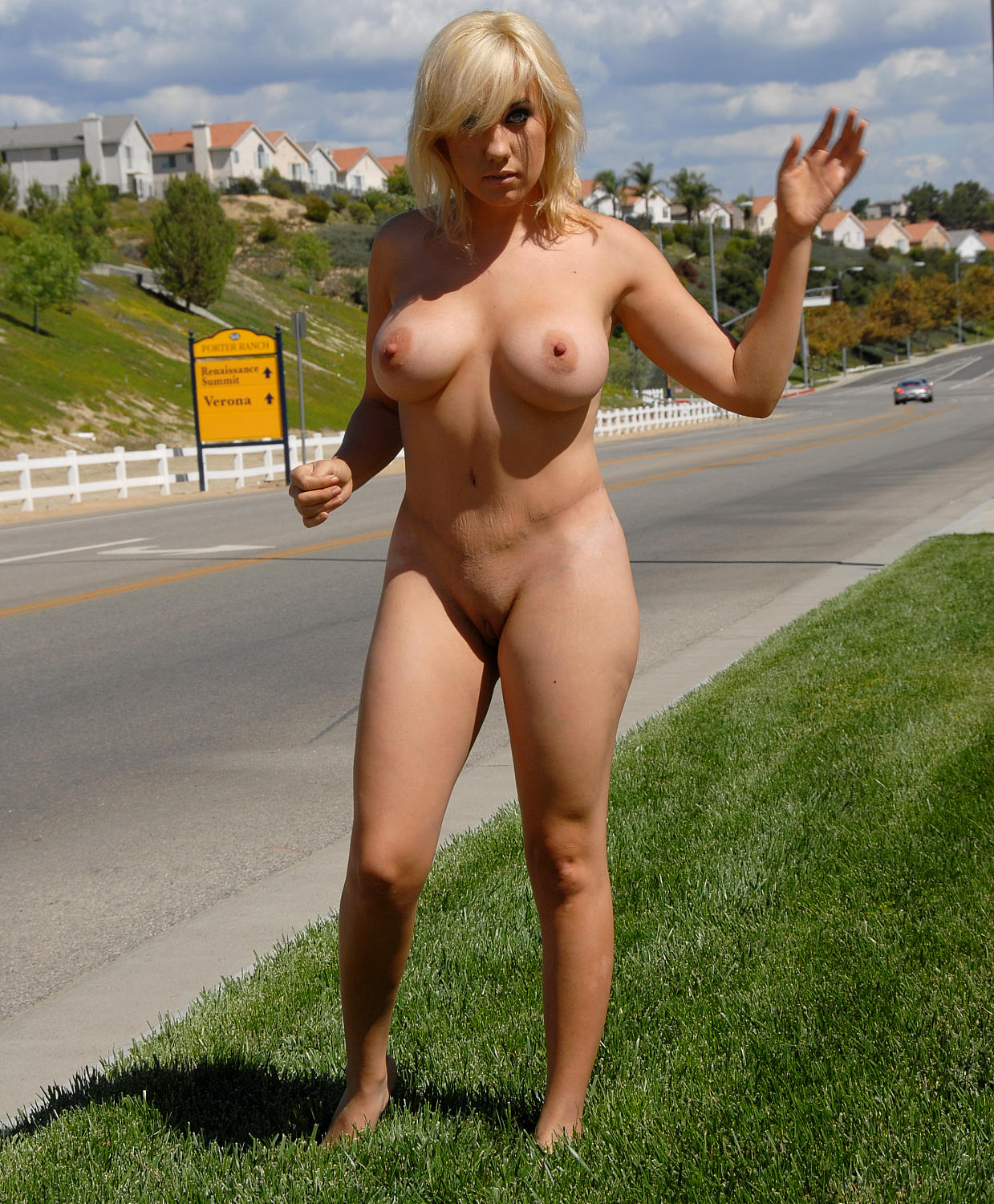 Naked across america as samantha travels to san francisco