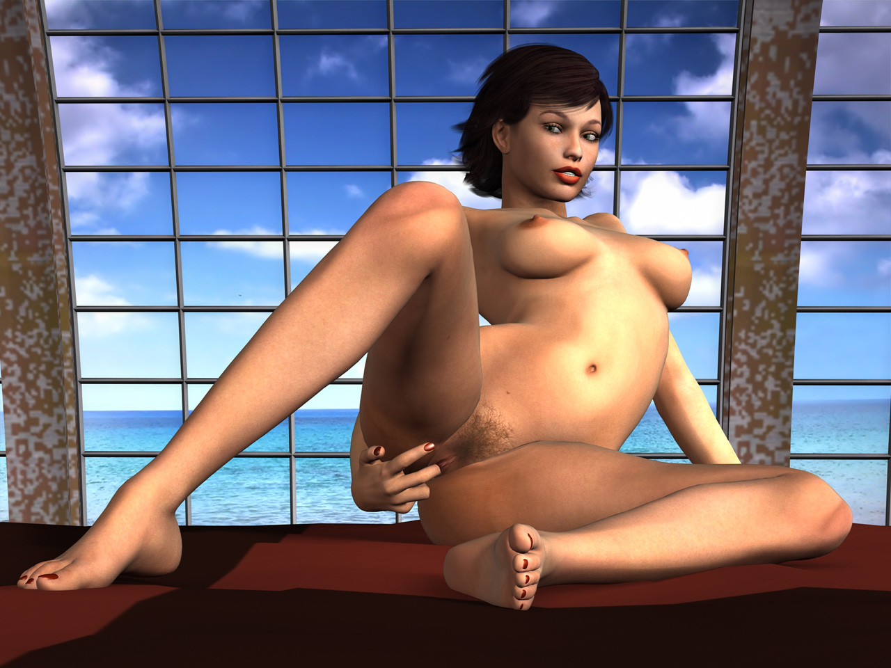 Cute nude 3d sex toons