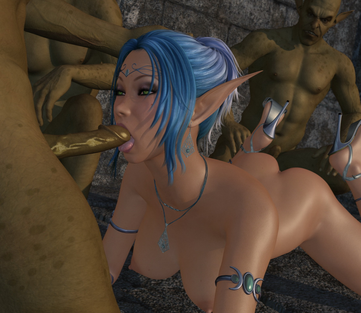Elf sucks monster sex pic