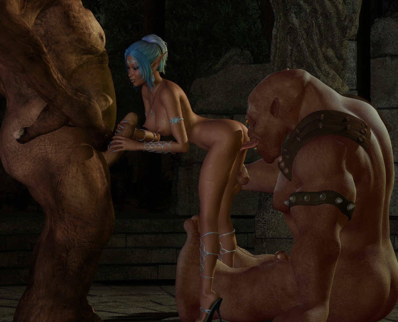 Ogre naked anime pic
