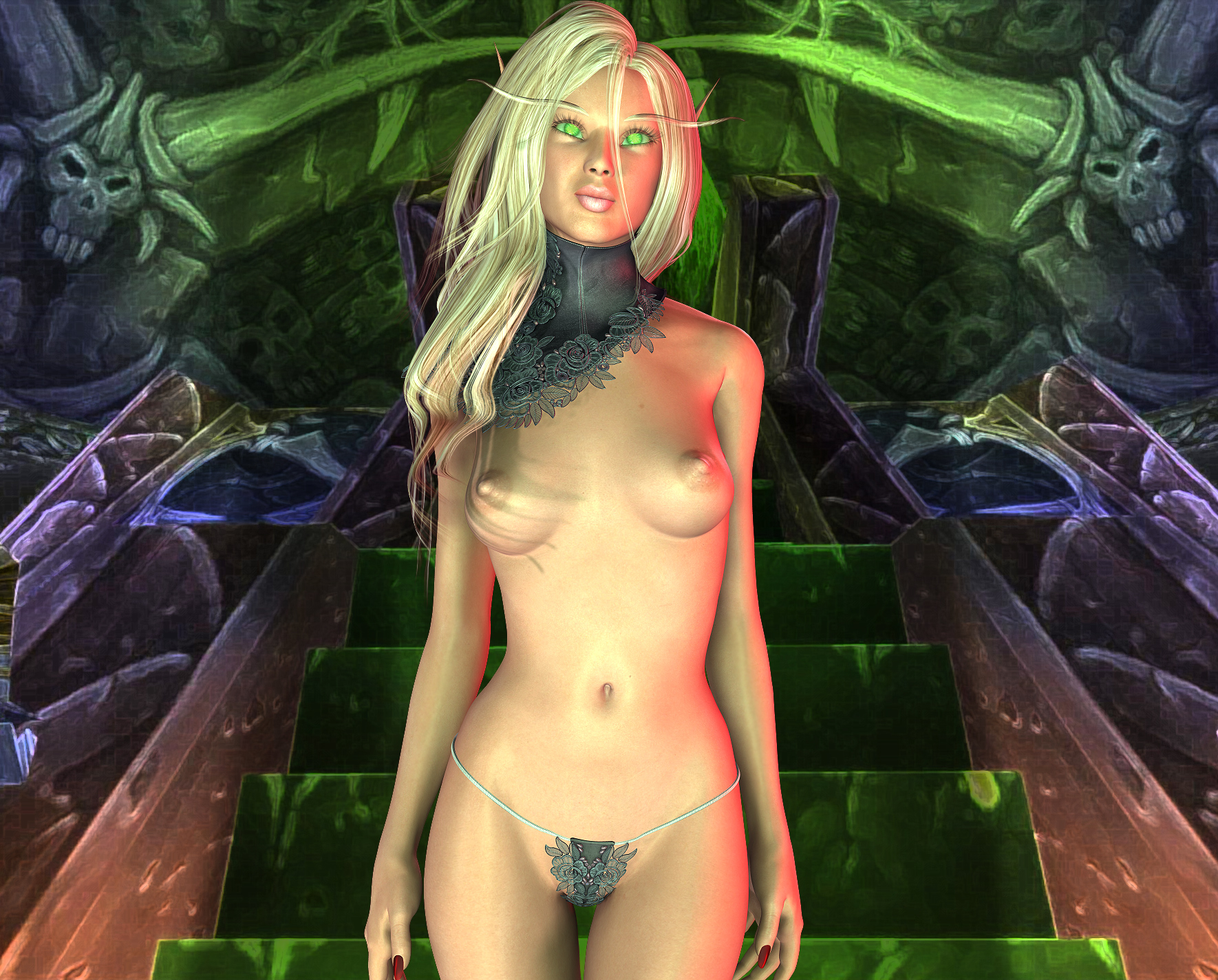 Elf girl masterbates adult photos