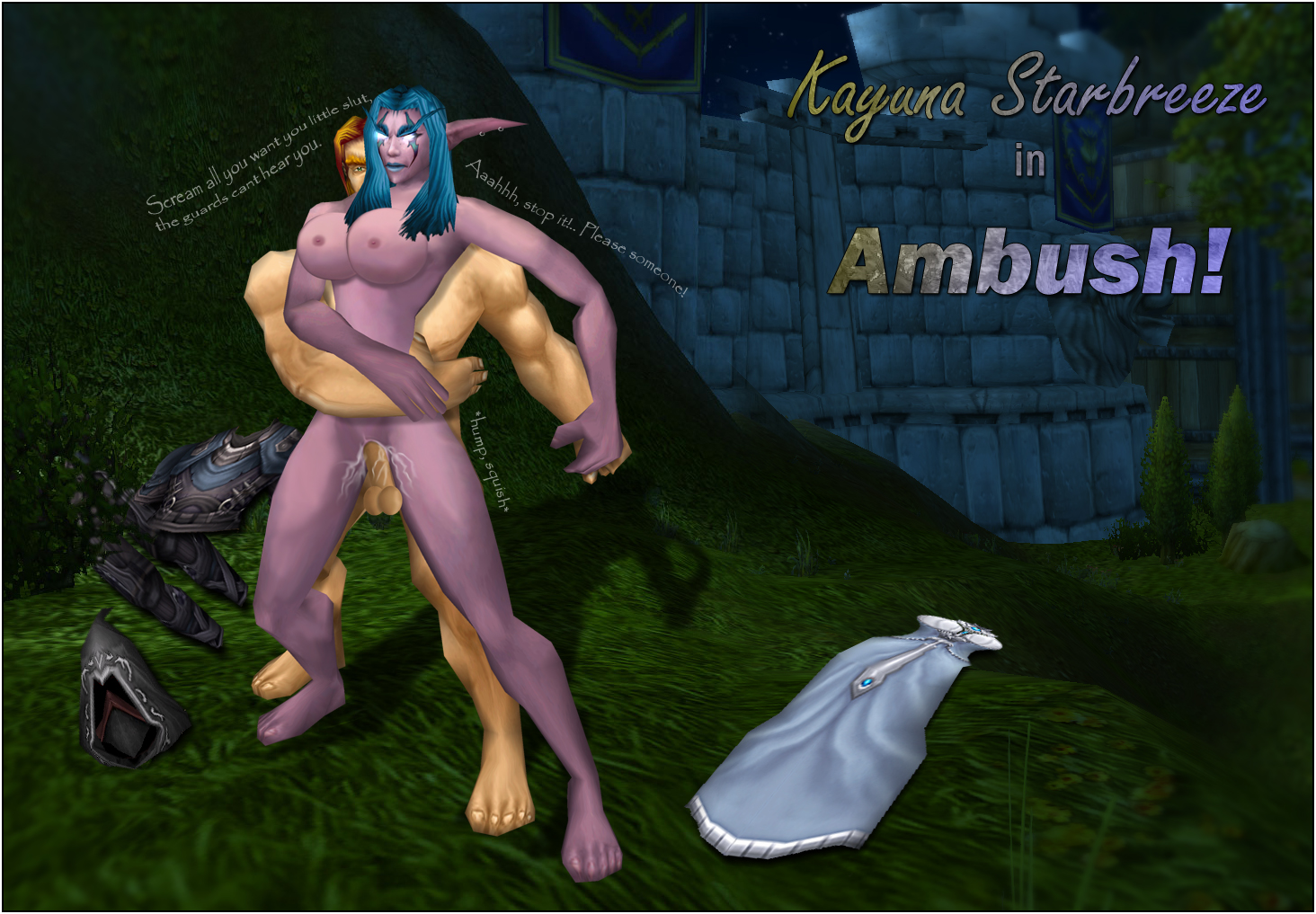 3d World of Warcraft porn addon exploited uncensored girls