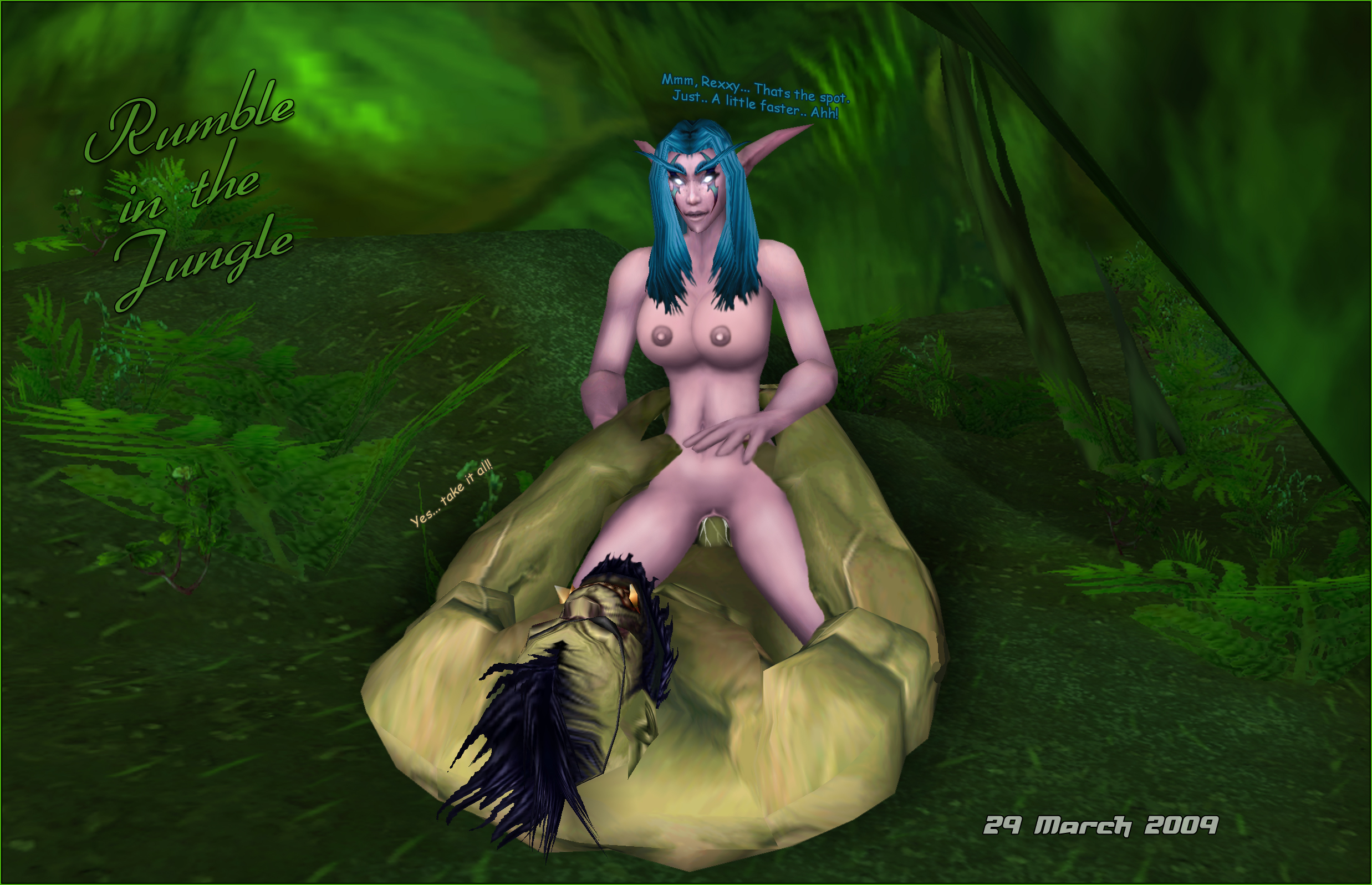 Warcraft blond girl fucks elf erotic girl