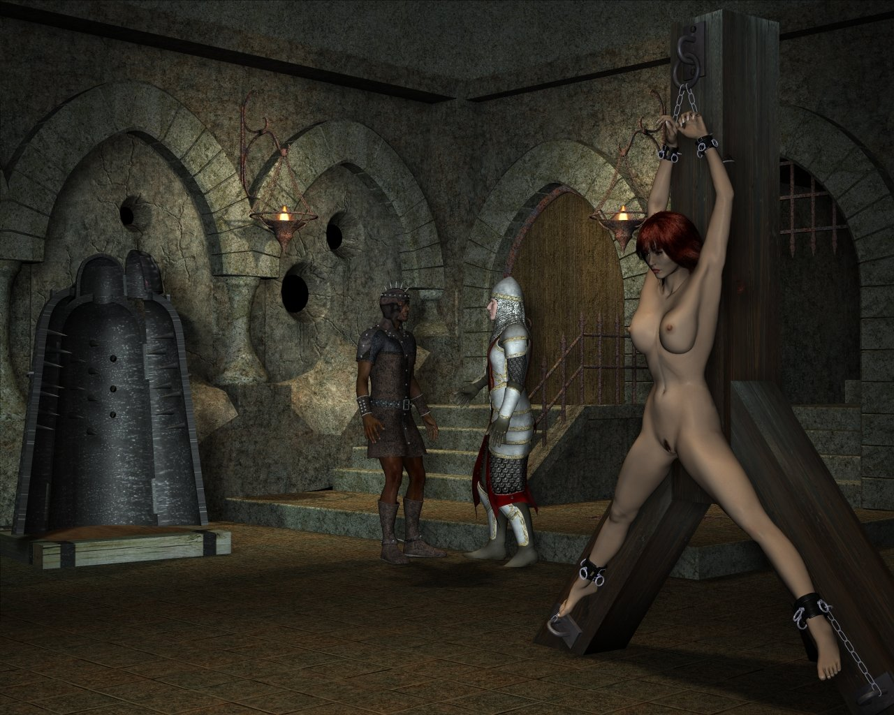 Fetish art of medieval torture smut scenes