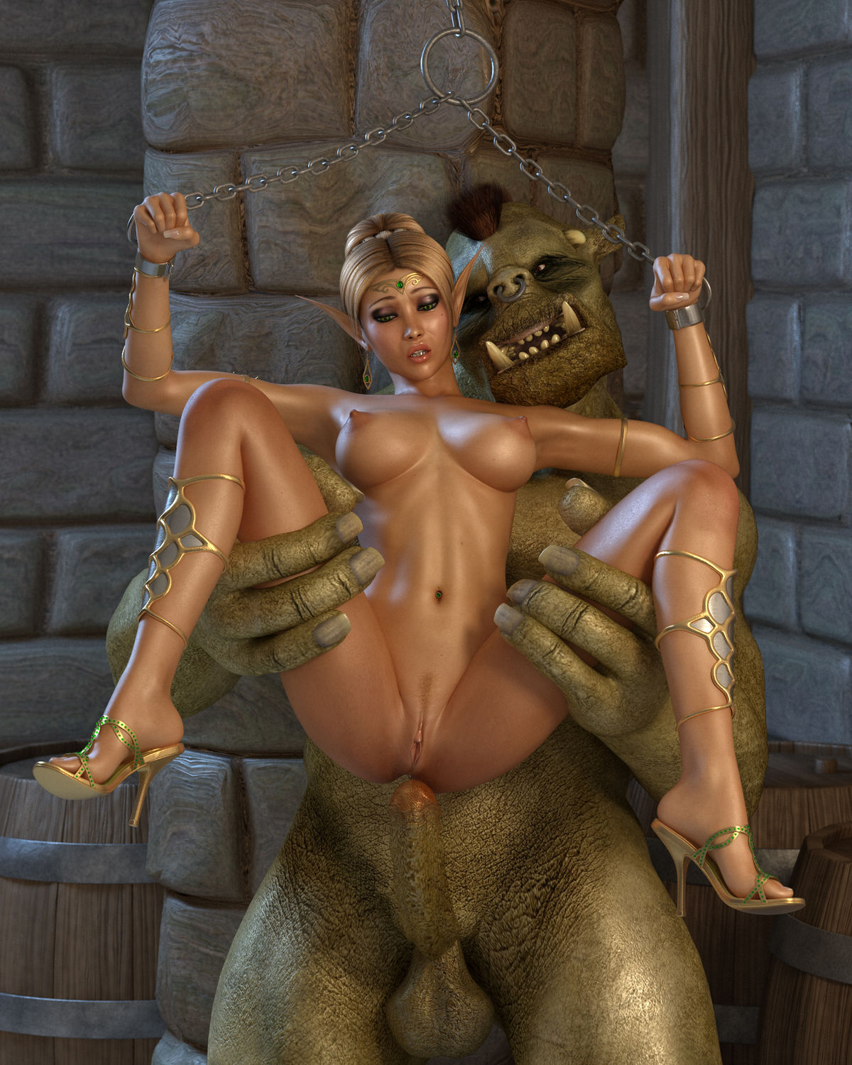 Elf porn monsters vids hentai scene